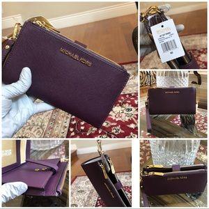 Michael kors double zip SmartHome wallet wristlet